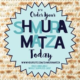 Order Shmura Matza Instagram-opslag template