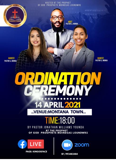 Ordination flyer A4 template