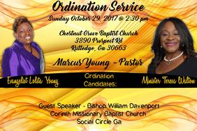 Ordination Service Poster template