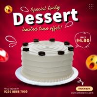 Oreo Cake Ads Persegi (1:1) template