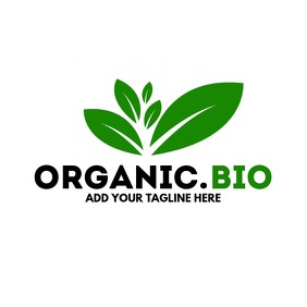 Organic bio leaves logo