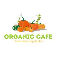 Organic Cafe Food Logo template
