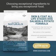 Organic Food Ad Instagram Image template