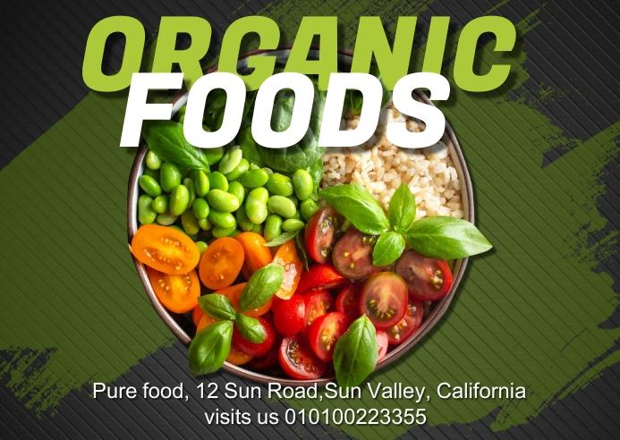 organic food Kartu Pos template