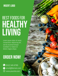 Organic Food for Healthy Living Flyer template