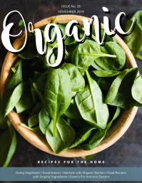 Organic Food Magazine Cover Template
