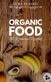 Organic Food Recipe Book Cover Kindle-omslag template