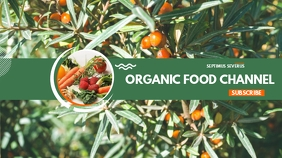 Organic food youtube channel cover template