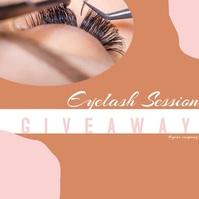 Organic Giveaway Beauty Eyelash Social Media Publicación de Instagram template