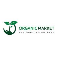 organic green shades modern logo template des