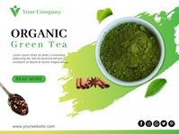 Organic Green Tea Flyer Tempate Presentation template