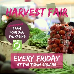 Organic Harvest Fair Farmers Market Square (1:1) template