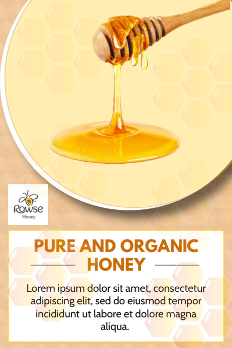 Organic Honey flyer Iphosta template