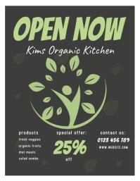 organic kitchen flyer