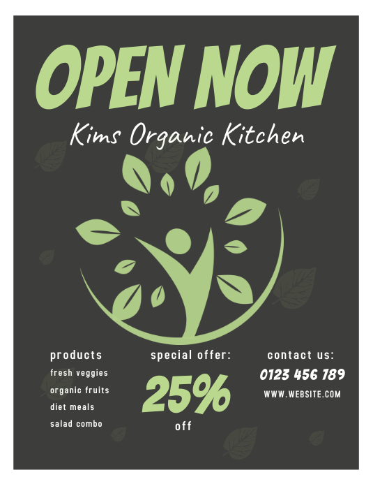 organic kitchen flyer