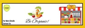 organic market Banner 2' × 6' template