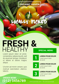 Organic Restaurant Vegetable Ad Template