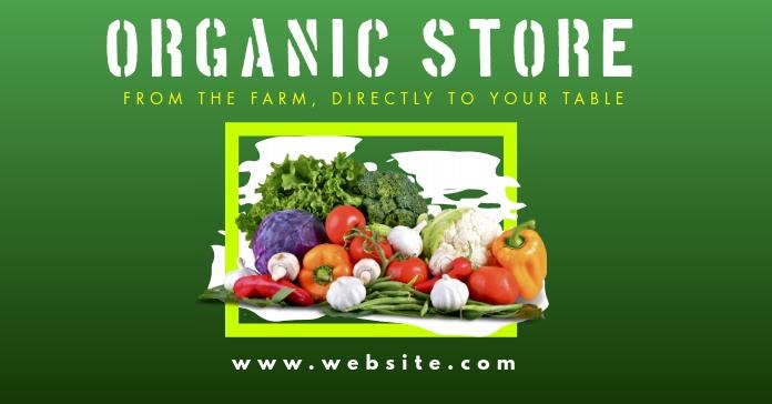 organic store facebook advertisement template