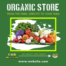 organic store instagram post design template