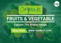 Organic vegetable postcard template