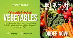 Organic Vegetables Facebook Shared Image template