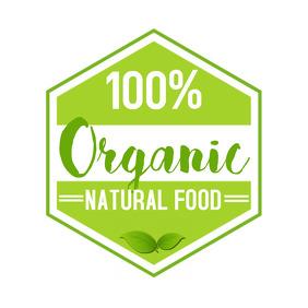Organic Vegetarian Logo Template