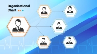 Organizational Chart Digitale Vertoning (16:9) template