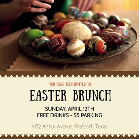 Oriental Easter Brunch Square Video template
