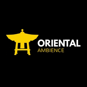 Oriental restaurant white black and yellow lo