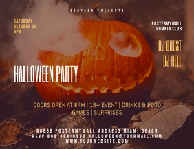 Original Halloween Party Flyer Template