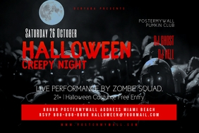 Original Halloween Party Flyer Template Etichetta