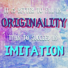 Originality Quote Poster