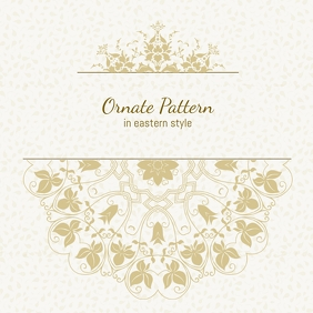 Ornate Pattern eastern style wedding card