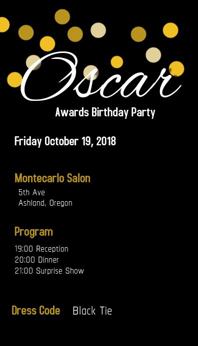 Oscar Award Party
