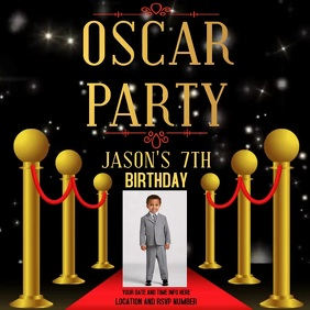 OSCAR BIRTHDAY PARTY AD SOCIAL MEDIA POST