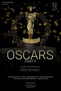 Oscars Party Flyer Template Плакат