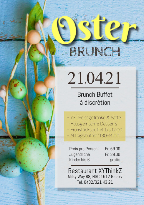 Oster Easter Brunch Buffet Flyer Poster