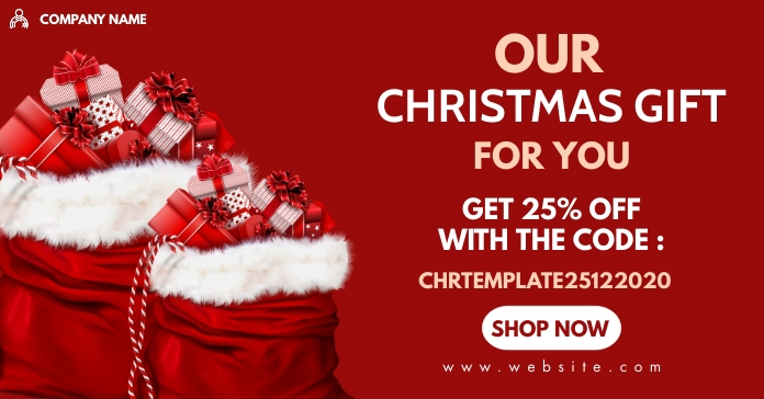 our christmas gift Facebook Ad template