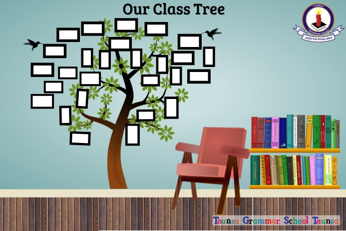 Our Class Tree 海报 template