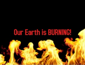 Our earth is burning