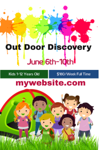 Out Door Discovery Camp Плакат template