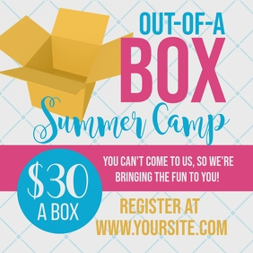 Out of a Box Summer Camp Instagram Post template