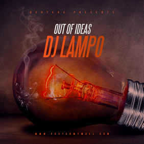 Out of Ideas Mixtape CD Cover Template
