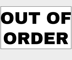 OUT OF ORDER SIGN BOARD TEMPLATE Stort rektangel