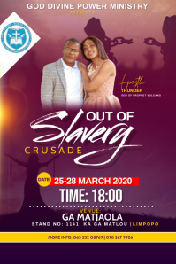 OUT OF SLAVERY CRUSADE FLYER