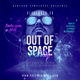 Out of Space Party Instagram Poster Template