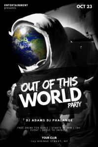 Out of This World Party Flyer Template Affiche