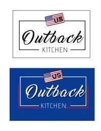 Outback Kitchen Branding Logo Løbeseddel (US Letter) template