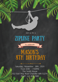 outdoor birthday invitation