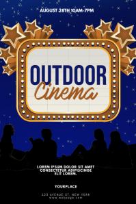 Outdoor Cinema picnic night Flyer Template